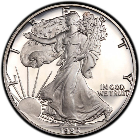 Picture of 1 $ долар США Американський Срібний Орел Liberty 1988 р