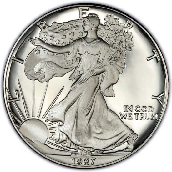 Picture of 1 $ долар США Американський Срібний Орел Liberty 1987р