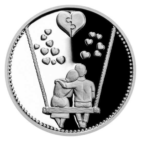 "Picture of Серебряная медаль ""Вместе навсегда"" 10 грамм 2021 г."