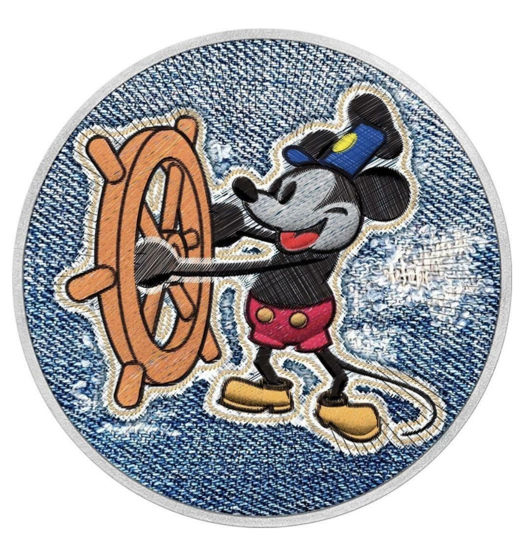 "Picture of Срібна монета ""Міккі Маус Джинс - Mickey Mouse Jeans"", 31.1 грам"
