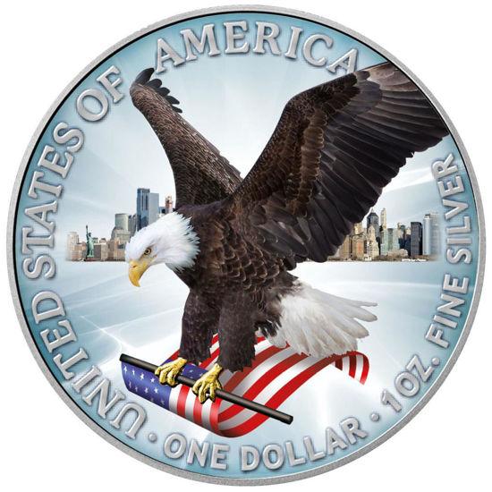 """Picture of Срібна кольорова монета """"Американський орел - Liberty"""" 31.1 грам 2021 р. США"""
