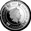 """Picture of Серебряная хрустальная монета """"Бабочка на удачу"""" 31.1 грамм 2019 г."""