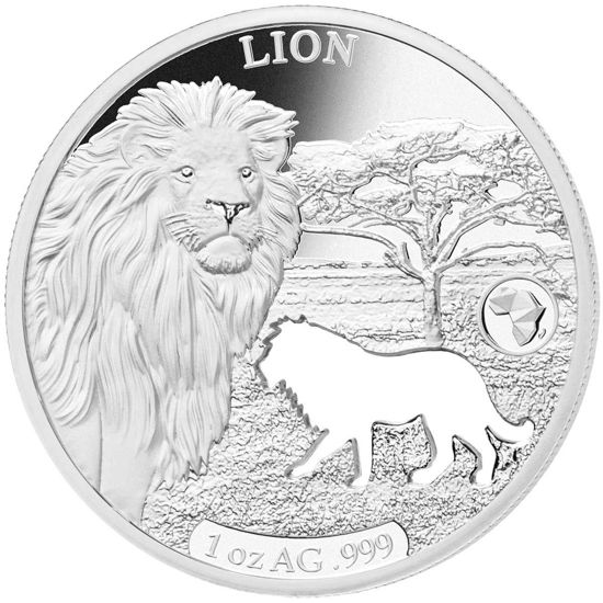 "Picture of Срібний монета ""Силуети Африки - Лев"" 2018 31,1 грам"