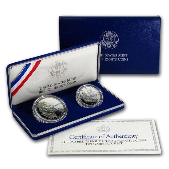 Picture of США Набор из 2-х монет Билль о правах монет, 1 доллар и 1/2 доллара. Серебро и никель