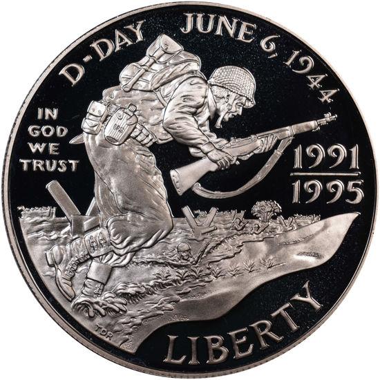 """Picture of """"Liberty - Річниця Другої світової війни"""" 1 долар США 1993"""