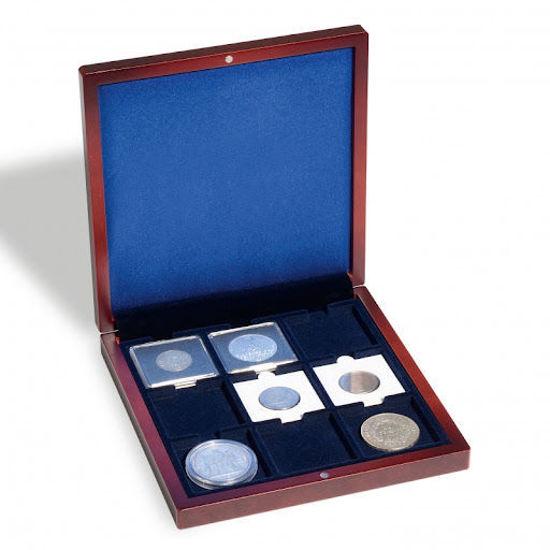 Picture of Футляр дерев'яний для 9 монет в капсулі Quadrum. Leuchtturm