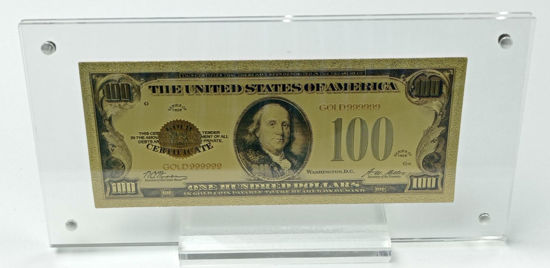 Picture of Позолочена банкнота 100 доларів