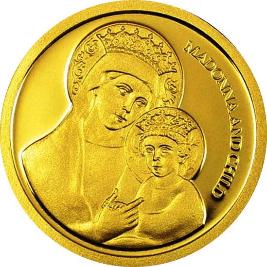 """Picture of Золота монета """"Мадонна з немовлям"""" 1,24 грам 2007 р."""