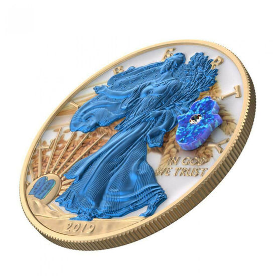 "Picture of Серебряная монета  ""Американский орел Liberty - Еврейский праздник SHAVUOT"" 31.1 грамм 2019 г. США"