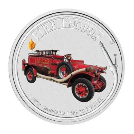 "Picture of Срібна монета ""Пожежна машина 1923 CARFORD TYPE 15 PUMPER"" 31.1 грам"