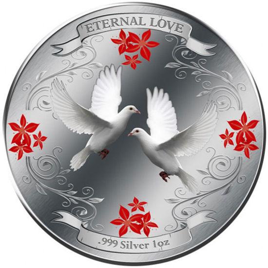 """Picture of Срібна монета """"Вічна Любов"""" 31,1 грам 2011 р"""